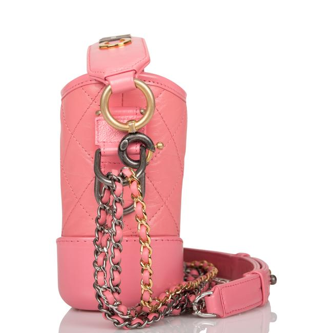 Chanel Gabrielle Hobo Quilted 20 Mixed Metal Hardware Pink Lambskin Leather Shoulder Bag Chanel Gabrielle Hobo Quilted 20 Mixed Metal Hardware Pink Lambskin Leather Shoulder Bag Image 3