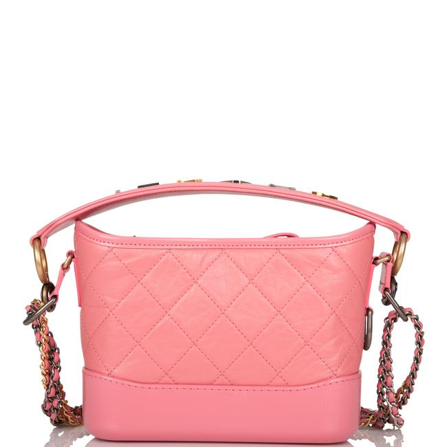 Chanel Gabrielle Hobo Quilted 20 Mixed Metal Hardware Pink Lambskin Leather Shoulder Bag Chanel Gabrielle Hobo Quilted 20 Mixed Metal Hardware Pink Lambskin Leather Shoulder Bag Image 4