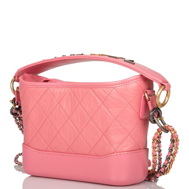 Chanel Gabrielle Hobo Quilted 20 Mixed Metal Hardware Pink Lambskin Leather Shoulder Bag Chanel Gabrielle Hobo Quilted 20 Mixed Metal Hardware Pink Lambskin Leather Shoulder Bag Image 5