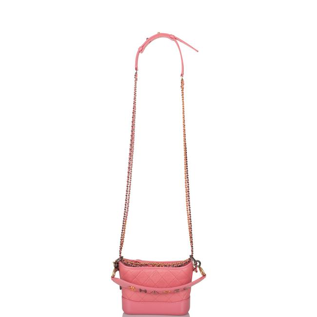 Chanel Gabrielle Hobo Quilted 20 Mixed Metal Hardware Pink Lambskin Leather Shoulder Bag Chanel Gabrielle Hobo Quilted 20 Mixed Metal Hardware Pink Lambskin Leather Shoulder Bag Image 9