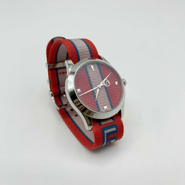 Item - Red/Blue Men's G-timeless Red/Blue Web Band Logo Quartz Watch 38mm 512652 Groomsman Gift