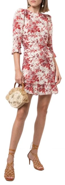 Item - Cream and Red Doutzen Mini Short Formal Dress Size 2 (XS)