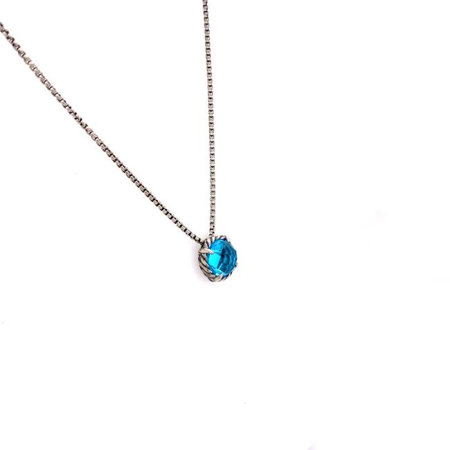 Item - Blue Chatelaine Sterling Silver Topaz Necklace