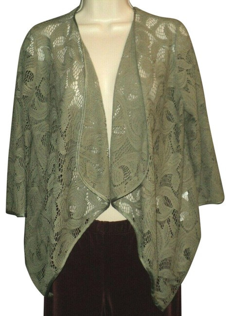 Item - Olive Green Runs Larger Lace Open Front 3/4 Sleeves Blazer Size 2 (XS)