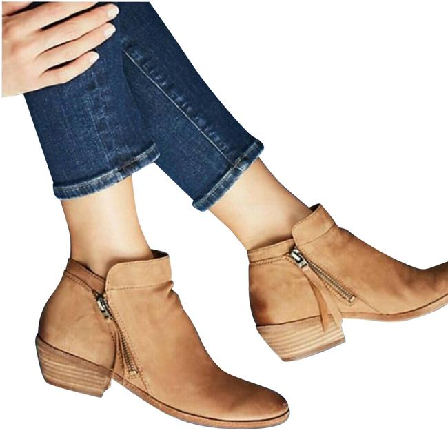 Item - Tan Leather Packer Ankle 9w Boots/Booties Size US 9 Wide (C, D)