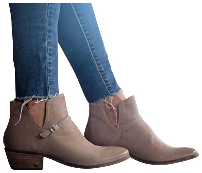Item - Cream Putty Leather Slip On Ankle Boots/Booties Size US 9 Regular (M, B)