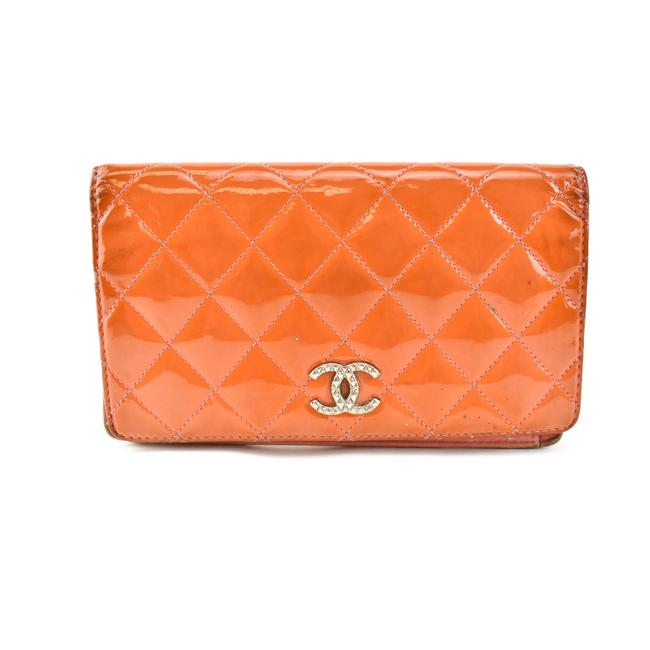 "Item - Tangerine Patent Leather & ""Cc"" Logo Long (Nx) Wallet"