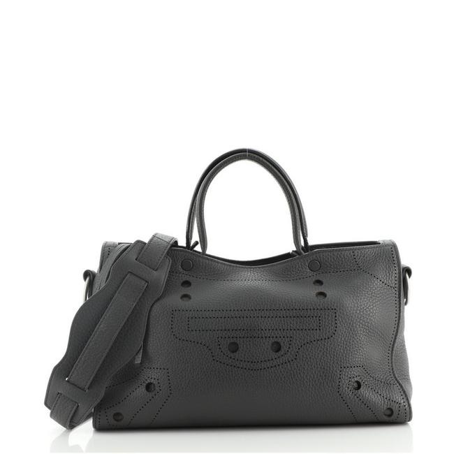 Item - Blackout Small Gray Leather Satchel