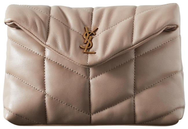 Item - Monogramme Sand Quilted Leather Clutch