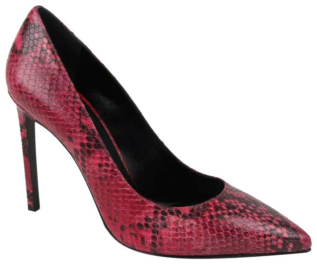Item - Fuchsia Women's Faux Python Leather Pointed Toe Heel 38/Us 8 315534 5514 Pumps Size EU 38 (Approx. US 8) Regular (M, B)