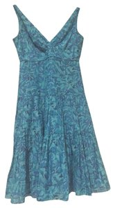 Ralph Lauren short dress Floral Blue on Tradesy
