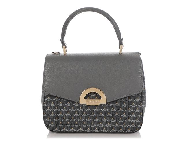 Fauré Le Page Parade 23 Gray Coated Canvas Satchel Fauré Le Page Parade 23 Gray Coated Canvas Satchel Image 1