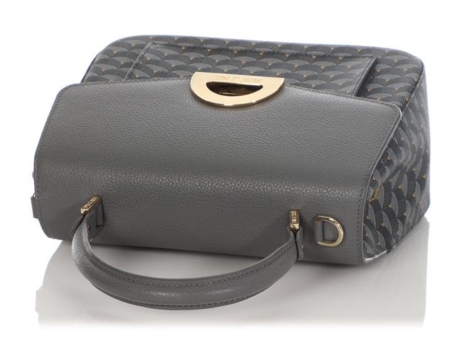 Fauré Le Page Parade 23 Gray Coated Canvas Satchel Fauré Le Page Parade 23 Gray Coated Canvas Satchel Image 7