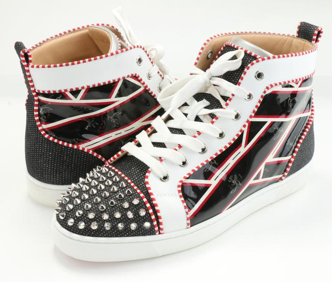 Item - Multicolor Lou Spikes Orlato Flat Tissu Shoes