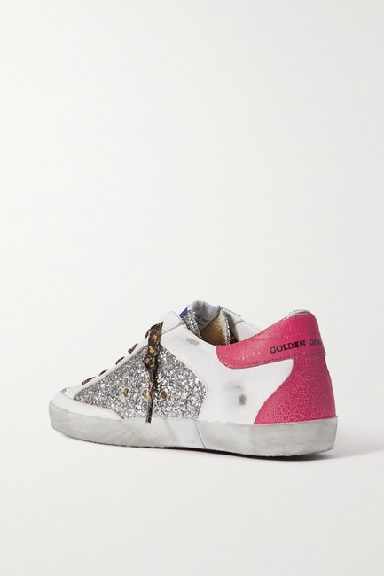 Golden Goose Deluxe Brand Silver Superstar Distressed Glittered Leather Sneakers Size EU 41 (Approx. US 11) Regular (M, B) Golden Goose Deluxe Brand Silver Superstar Distressed Glittered Leather Sneakers Size EU 41 (Approx. US 11) Regular (M, B) Image 3
