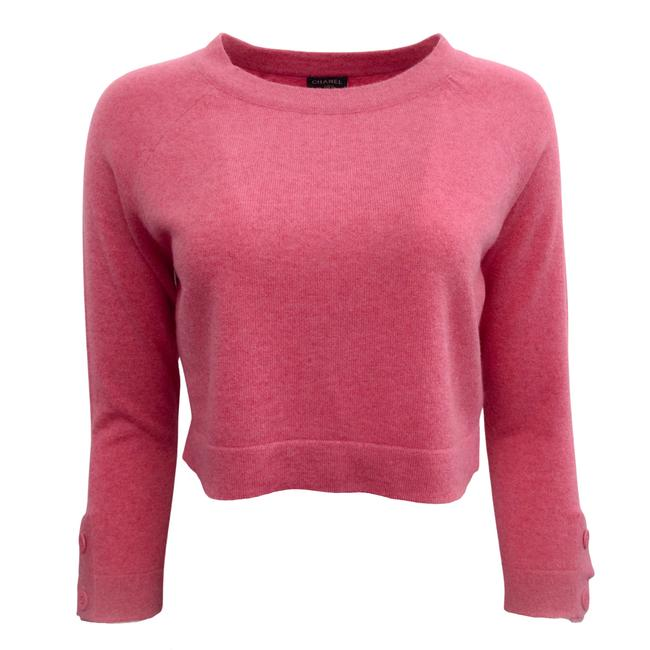 Item - Cashmere Cropped Raspberry Pink Sweater