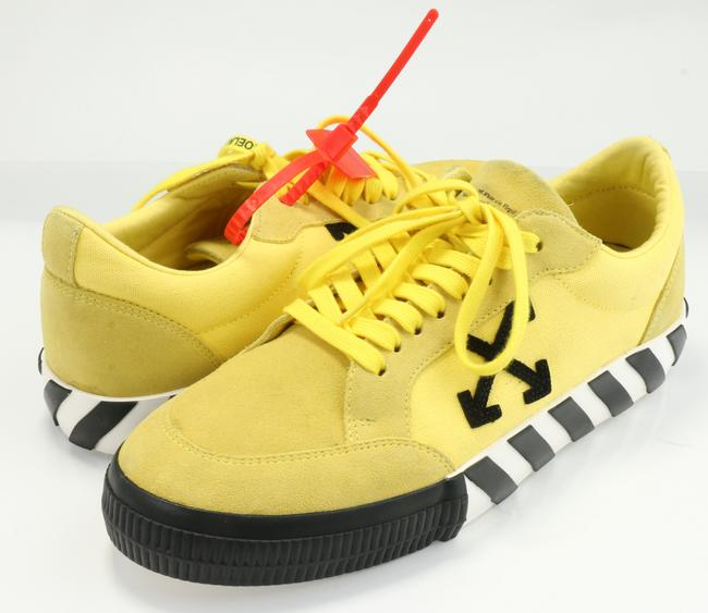 Item - Yellow/Black Off-white Low Vulcanized Sneakers Shoes
