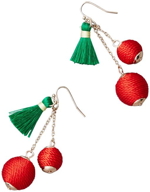 Item - Red Aeo Cherry Statement Earrings