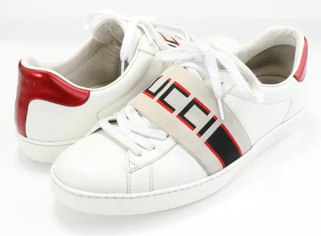 Item - White Ace Sneakers with Stripe Shoes