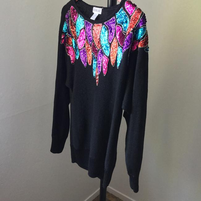 Other Beaded Vintage Knit Holiday Christmas New Year's Eve Party Bling Celebration Sweater Image 1
