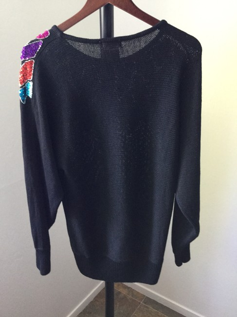 Other Beaded Vintage Knit Holiday Christmas New Year's Eve Party Bling Celebration Sweater Image 2