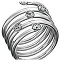 Michael Kors Collection Silver Swirl Ring Michael Kors Collection Silver Swirl Ring Image 1