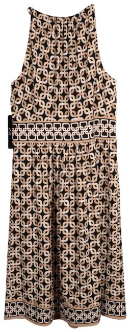 Item - Beige and Black Business To Business Casual Wear Short Work/Office Dress Size 8 (M)