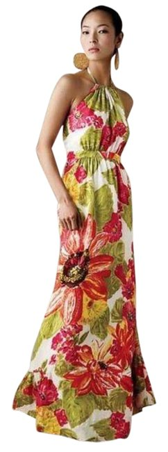 Item - Multicolor Lil Manambe Silk Floral Long Casual Maxi Dress Size 2 (XS)