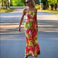 Anthropologie Multicolor Lil Manambe Silk Floral Long Casual Maxi Dress Size 2 (XS) Anthropologie Multicolor Lil Manambe Silk Floral Long Casual Maxi Dress Size 2 (XS) Image 5