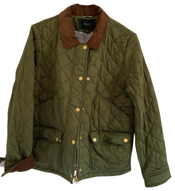 Item - Green Quilted Barn Jacket Size 10 (M)