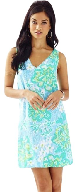 Lilly Pulitzer Blue Nwot Calissa Wave Rider Short Casual Dress Size 0 (XS) Lilly Pulitzer Blue Nwot Calissa Wave Rider Short Casual Dress Size 0 (XS) Image 1