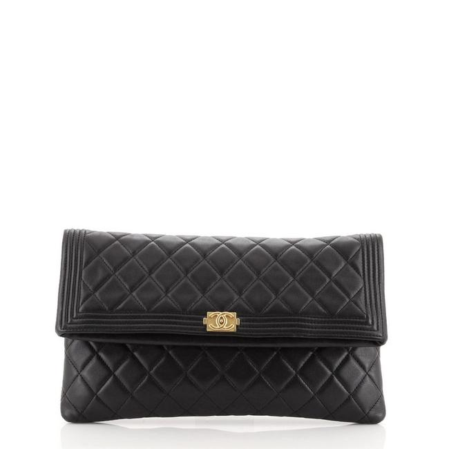 Item - Boy Beauty Cc Quilted Lambskin Black Leather Clutch