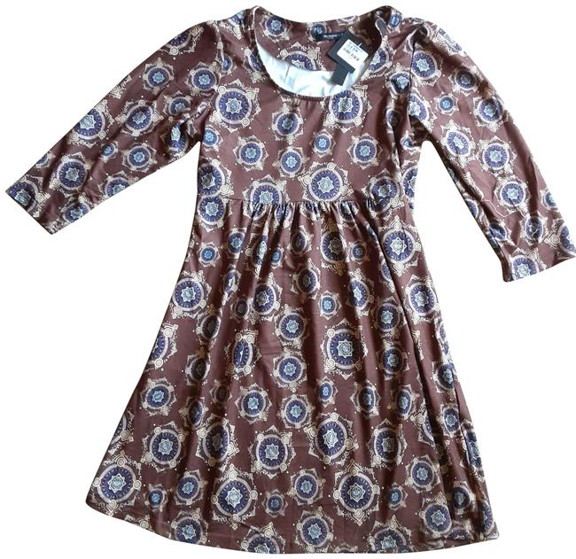 Item - Brown Women's Patterned Spring Tunic Size 4 (S)