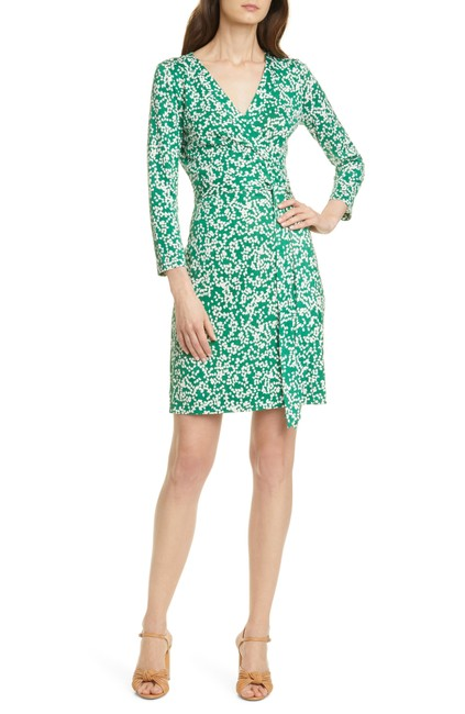 Item - Green Miles Printed Silk Wrap Mid-length Work/Office Dress Size 12 (L)