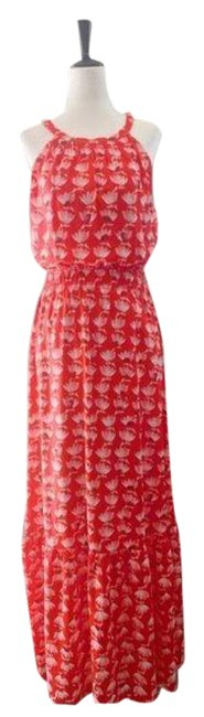 Item - Red Print Long Casual Maxi Dress Size 8 (M)