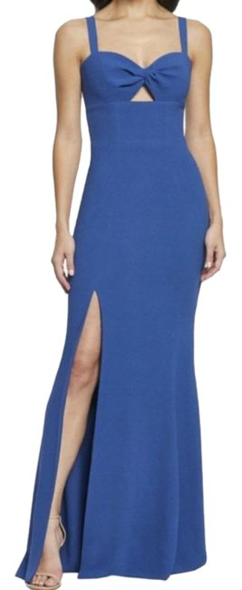 Item - Blue Twist Brooke Front Gown In Graphite Long Formal Dress Size 0 (XS)