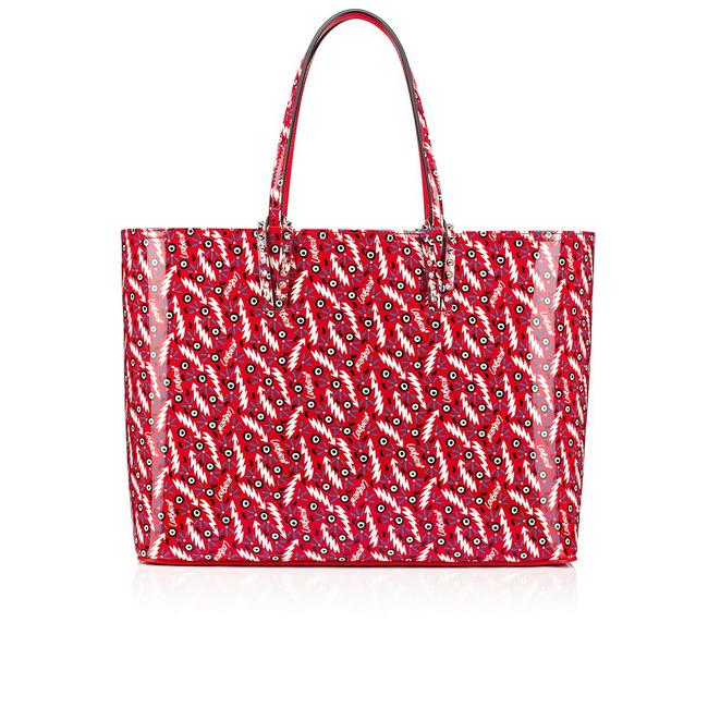 Item - Cabata Large Maison Print Red Leather Tote