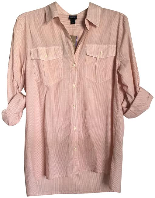 Item - Coral New Organic Cotton Shirt Button-down Top Size 6 (S)