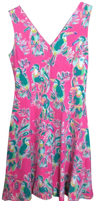 Item - Pink Flat French Terry Short Casual Dress Size 10 (M)