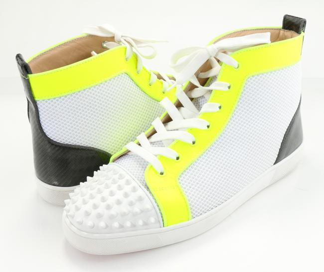 Item - Multicolor Lou Spikes Orlato Mesh/Leather High-top Sneakers Shoes