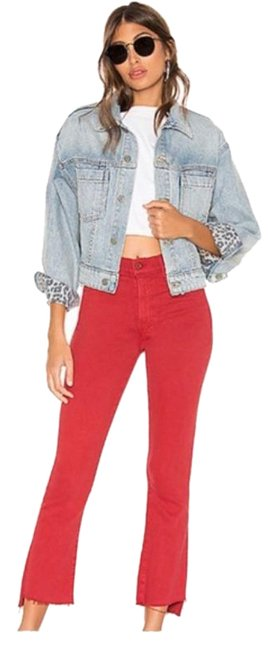 Item - Red Distressed Insider Step Fray Capri/Cropped Jeans Size 30 (6, M)