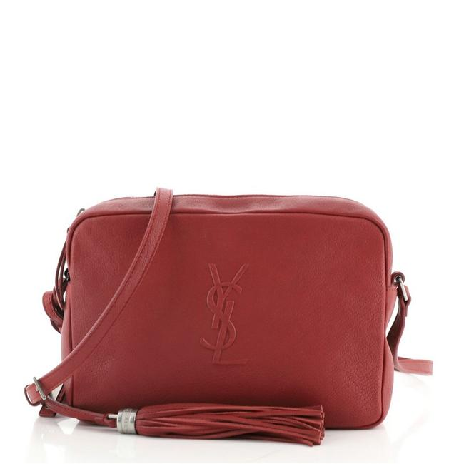 Item - Camera Lou Small Red Leather Cross Body Bag