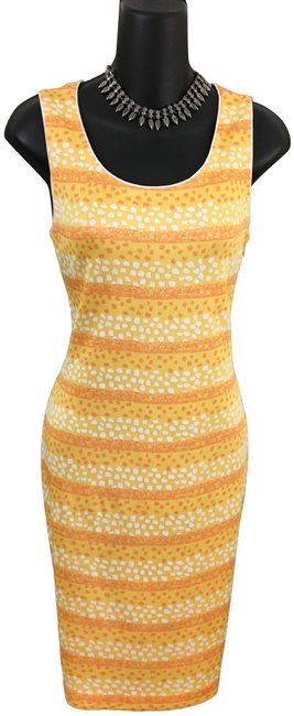 Item - Yellow Orange New Collection Knit Mid-length Formal Dress Size 2 (XS)