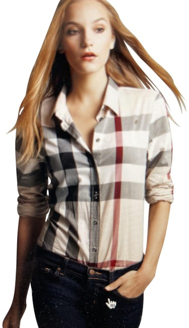 Item - Check Blouse Size 6 (S)