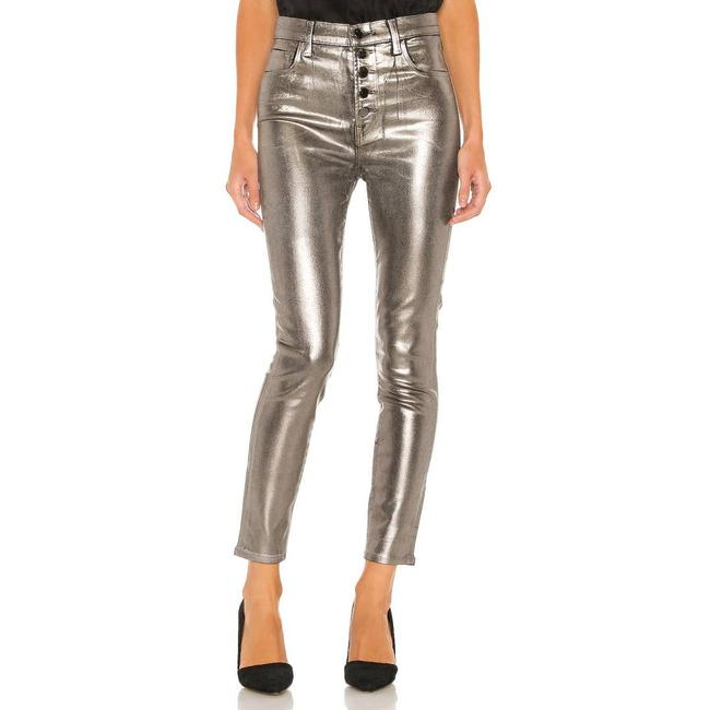 Item - Silver Lillie Coated High Rise Crop Skinny Jeans Size 24 (0, XS)