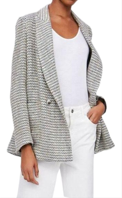 Item - Gray Nwot Textured Double Breasted Blazer Size 8 (M)