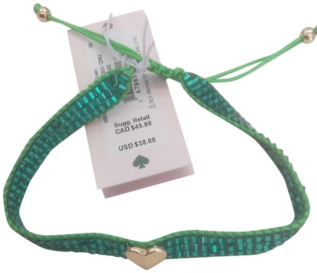 Item - Green New with Gold Heart Bracelet