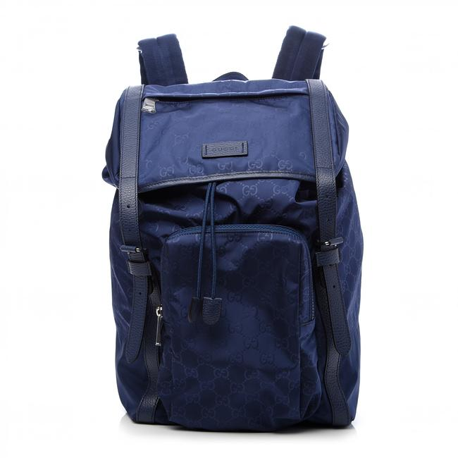 Item - Light Blue Gg ssima Nylon Backpack