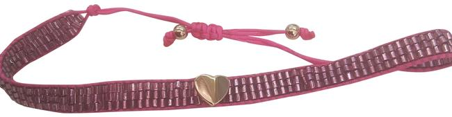Item - Hot Pink New with Gold Heart Bracelet