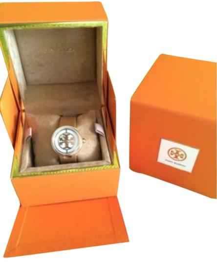 Tory Burch Tory Burch Watch, Authentic, Luggage Leather Strap w/gold face